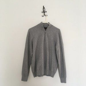 Michael Kors 1/4 Zip Pullover Gray Sweater Size S